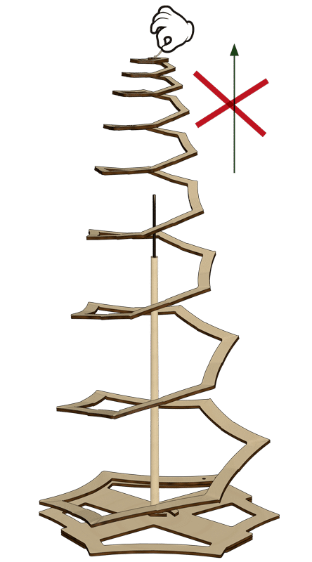 Weihnachtsbaum Zusammenbau Schritt 3.X