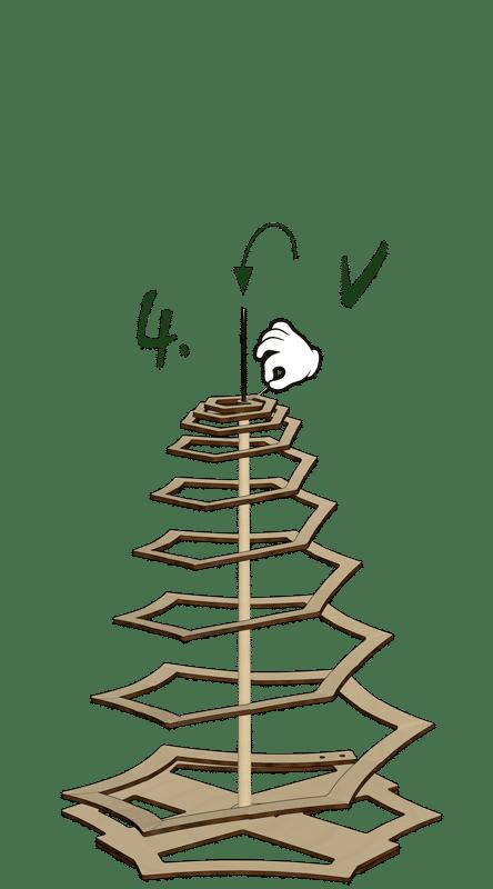 Weihnachtsbaum Zusammenbau Schritt 4