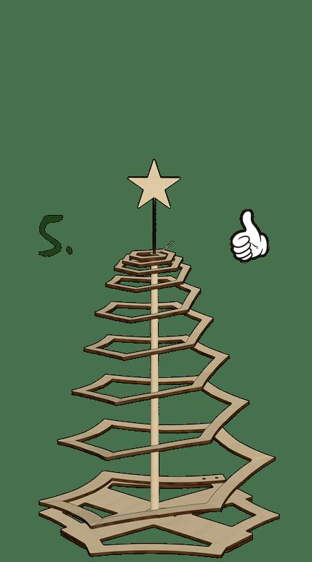 Weihnachtsbaum Zusammenbau Schritt 5