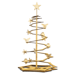 Weihnachtsbaum aus Holz, Modell Family-Tree natur