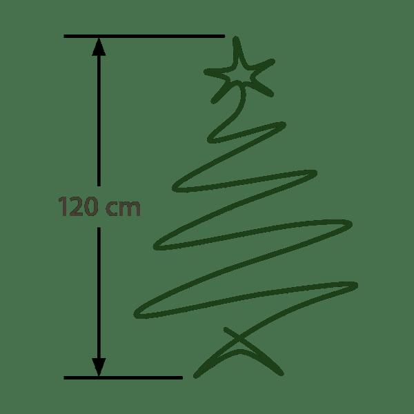 Baumgröße: 120cm