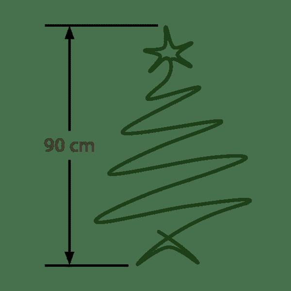 Baumgröße: 90cm