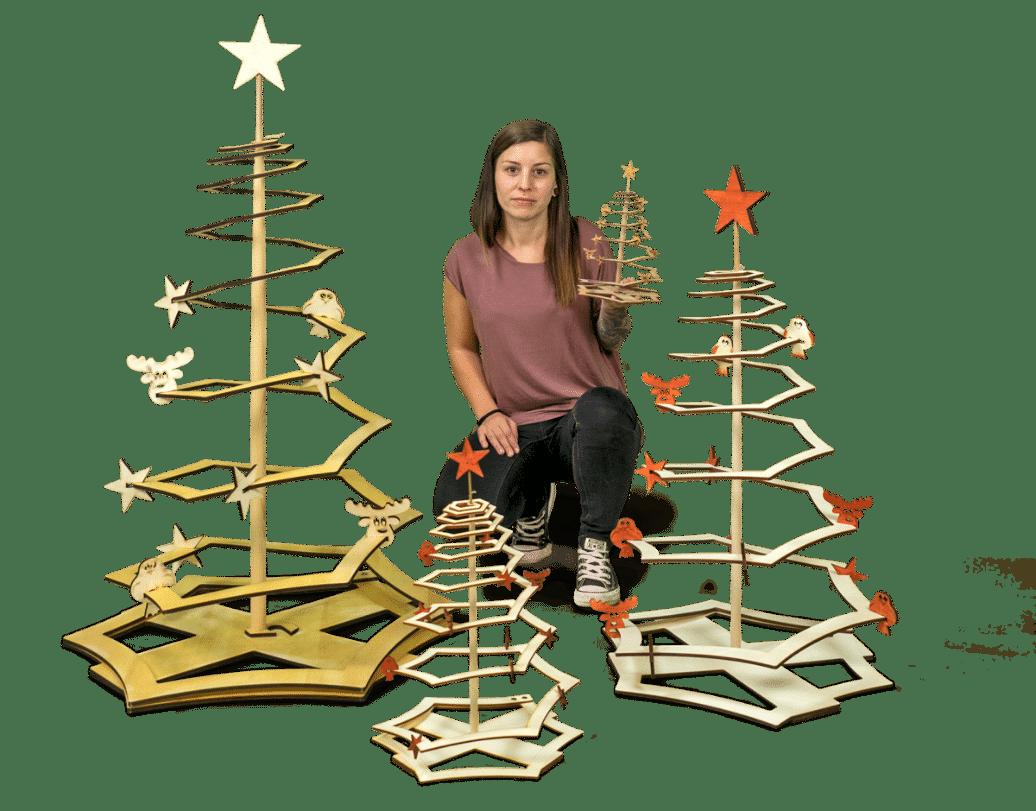 Weihnachtsbaum aus Holz, alle Modelle