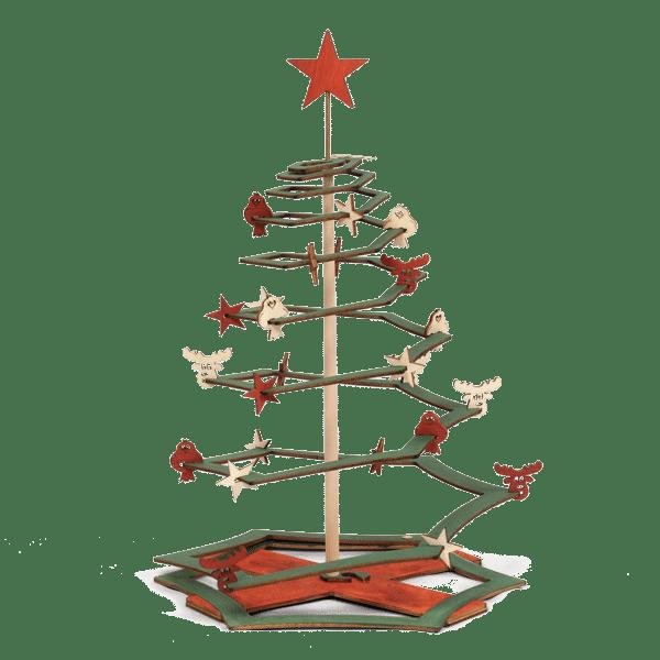 Weihnachtsbaum aus Holz, handbemalt