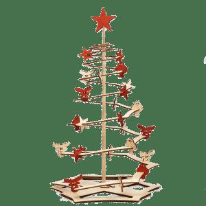 Weihnachtsbaum aus Holz, Modell Happy-Tree coloured